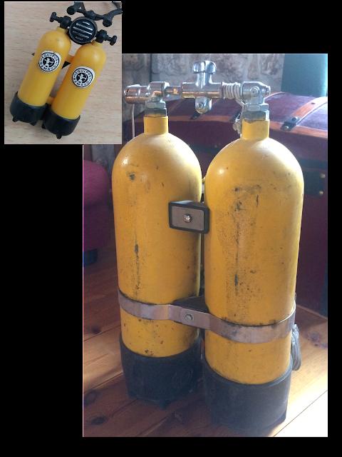 Botellas de buceo Memod de la época madelman