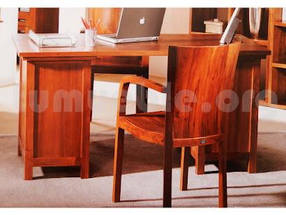 mesa escritorio hecho en teca 4020