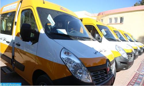 الرفع من الطاقة الاستيعابية لمركبات نقل المستخدمين والنقل المدرسي في حدود 75 في المائة