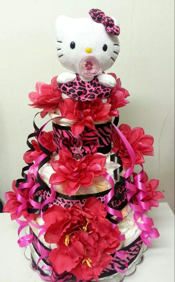 Adriana S Creations Floral Diaper Cakes