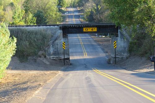 narrow underpass