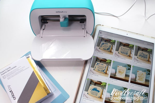 Project 1: Insert Card Insert cards are the best thing about Cricut Joy. The custom card mat, makes inserting a folded card a cinch. Open up Cricut Design Space and there are pages of insert cards. Select the one you like!