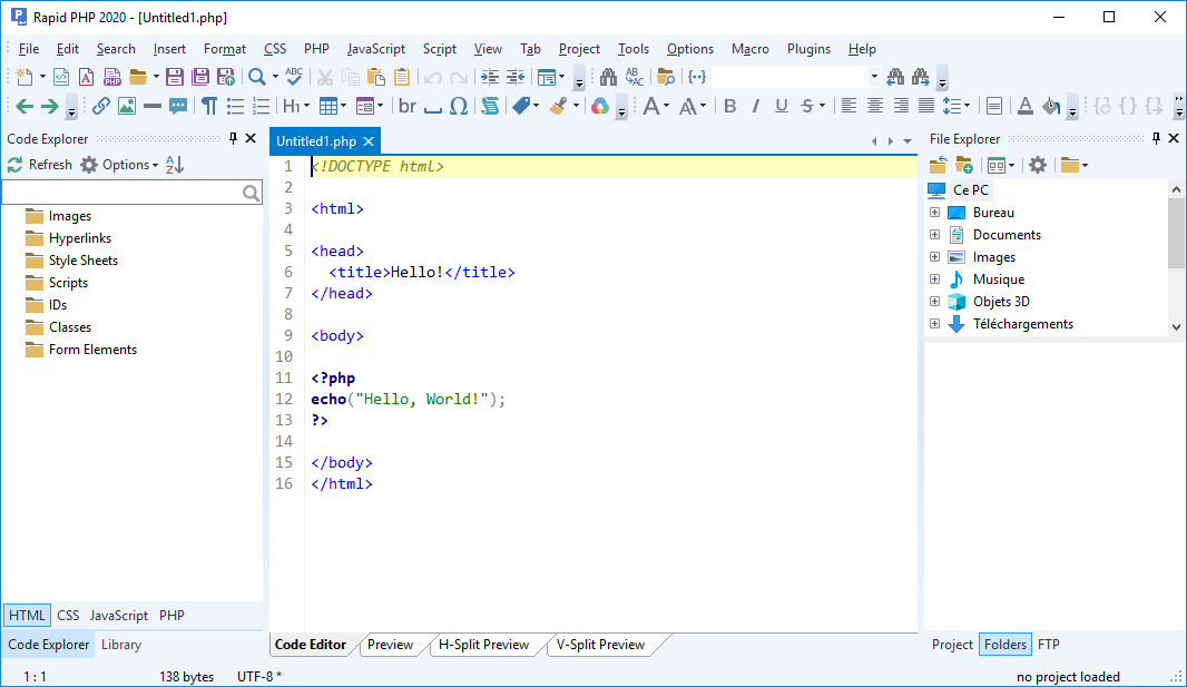 تحميل برنامج الكل في واحد لتطوير لإنشاء واختبار ونشر أي تطبيقات على شبكة الإنترنت Blumentals Rapid PHP 2020