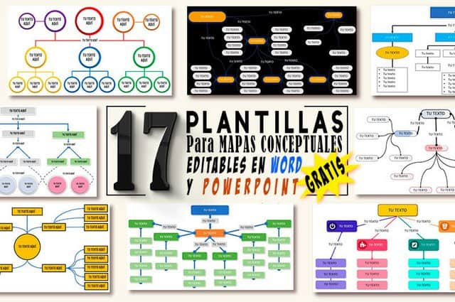 17 PLANTILLAS para Mapas Conceptuales MODIFICABLES en WORD y POWERPOINT Gratis