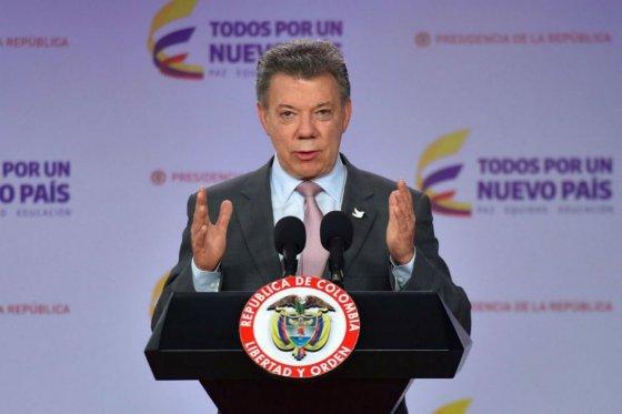 """""""Cese al fuego bilateral con las Farc va hasta el 31 de octubre"""": Santos"""