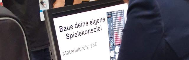 Angebot auf der Maker Faire Hannover 2019: Baue deine eigene Spielekonsole für 15 Euro