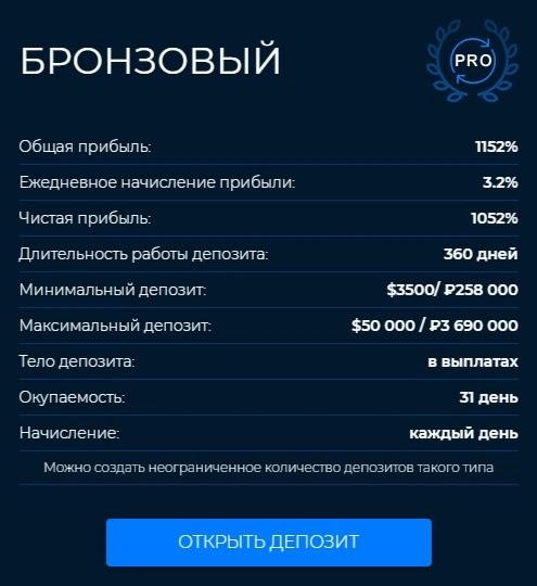 Инвестиционные планы Mirax Capital 4