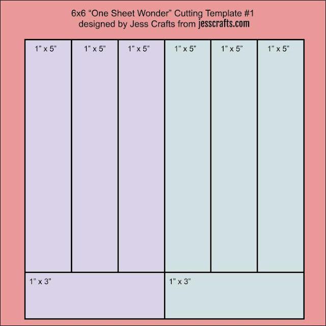 6x6 One Sheet Wonder Template #1 by Jess Crafts