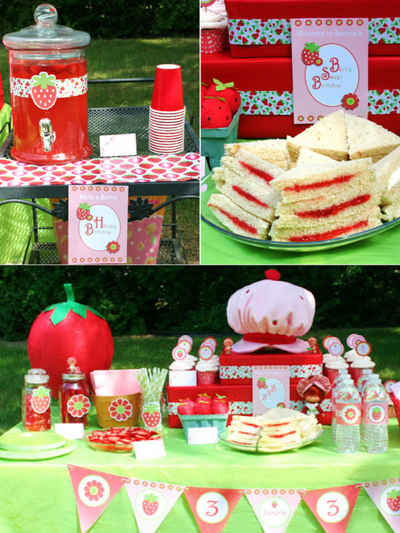DIY Strawberry Shortcake Birthday Party Ideas - via BirdsParty.com