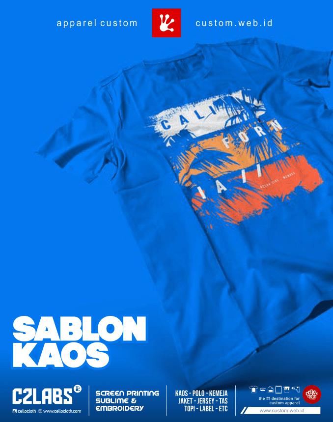 Tempat Sablon Kaos Custom Terdekat Jogja - C2 Labs Cellos Clothes