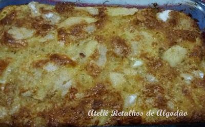 Torta de maçã fácil, rápida e deliciosa