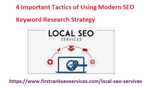 BEST FIRST RANK SEO SERVICES USA: 4 Important Tactics of