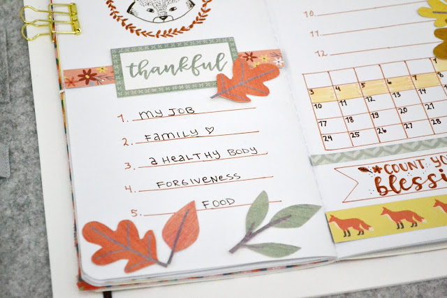 Gratitude Journal Spread by Aly Dosdall