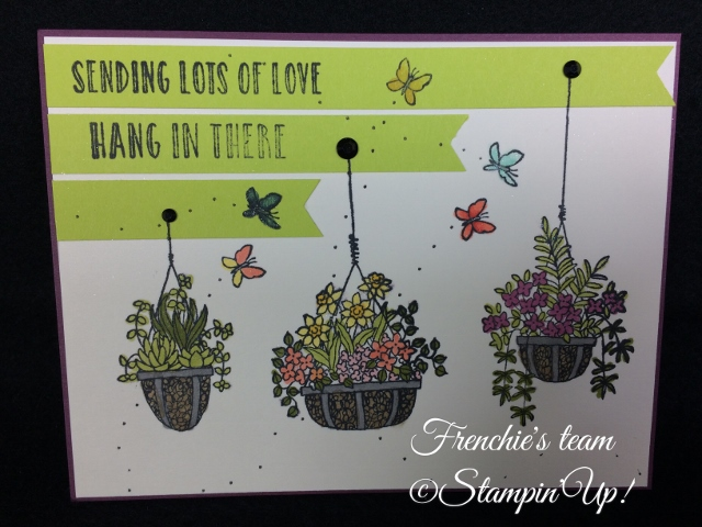 Hanging Garden,  Sale a Bration and Occasion Stampin'Up! 2018, Frenchie stamps in the Spotlight,