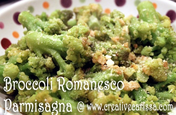 Broccoli Romanesco Parmisagna Recipe #creativegreenliving#christmasdinnerideas