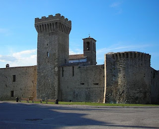 The fortification of Castel San Giovanni is just outside the Umbrian town of Castel Ritaldi
