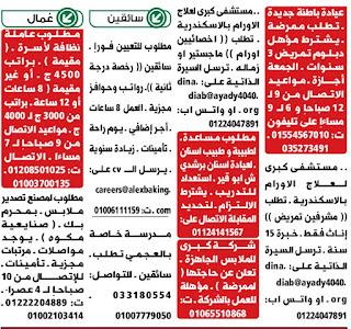 عاجل وظائف واعلانات  الوسيط الجمعة 2020/11/13  جميع التخصصات