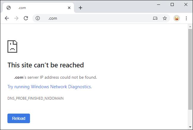 خطأ Cloudflare DNS بعد تمكين الرقابة الأبوية.