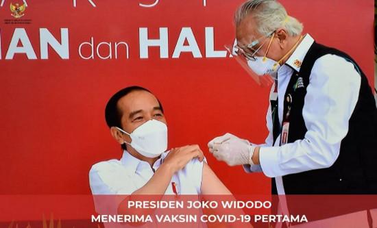 Program Vaksinasi Covid-19 di Mulai, Presiden Jadi yang Pertama Menerima Vaksinasi