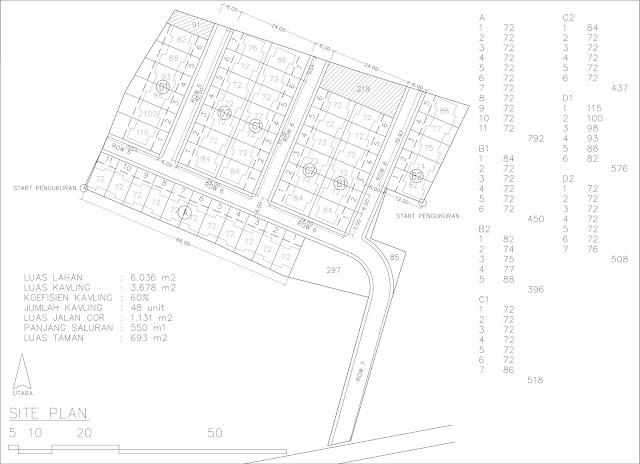 desain site plan perumahan