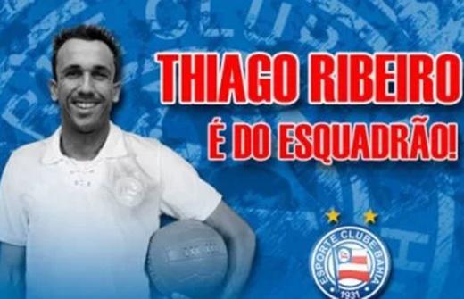 Atacante Thiago Ribeiro é o mais novo reforço do Bahia