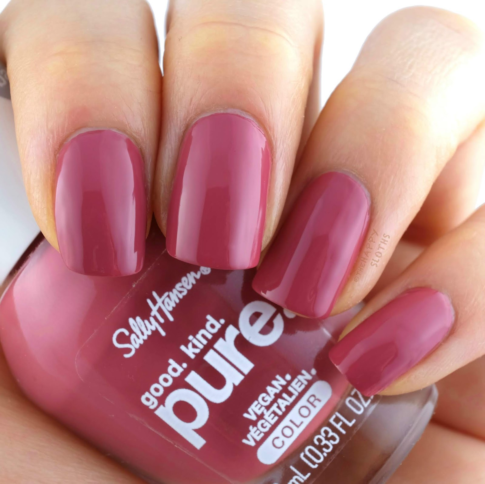 "Sally Hansen | Good. Kind. Pure. Nail Polish in ""260 Eco-Rose"": Review and Swatches"