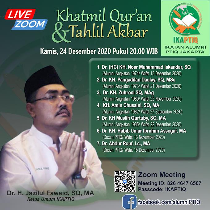 Takziyah: IKAPTIQ Gelar Khatmil Qur'an dan Tahlil Akbar
