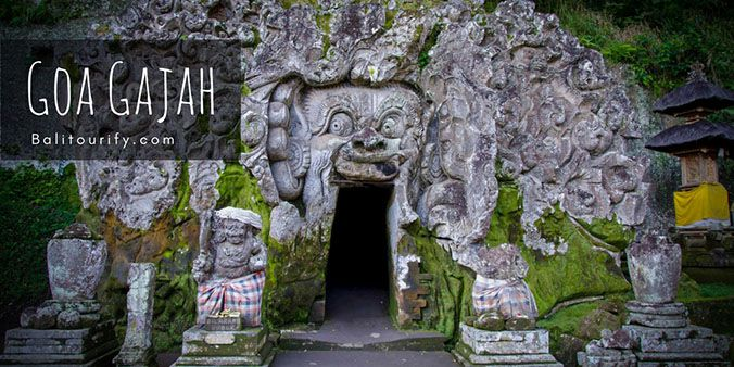 Goa Gajah Temple, Elephant Cave Temple, Private Kintamani Volcano Tour Bali, Bali One Day Trip to see active Volcano, Kintamani Bali Volcano Tour