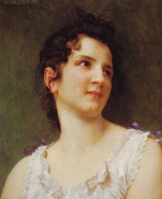 Адольф Вильям Бугро - Портрет юной девушки (1896)