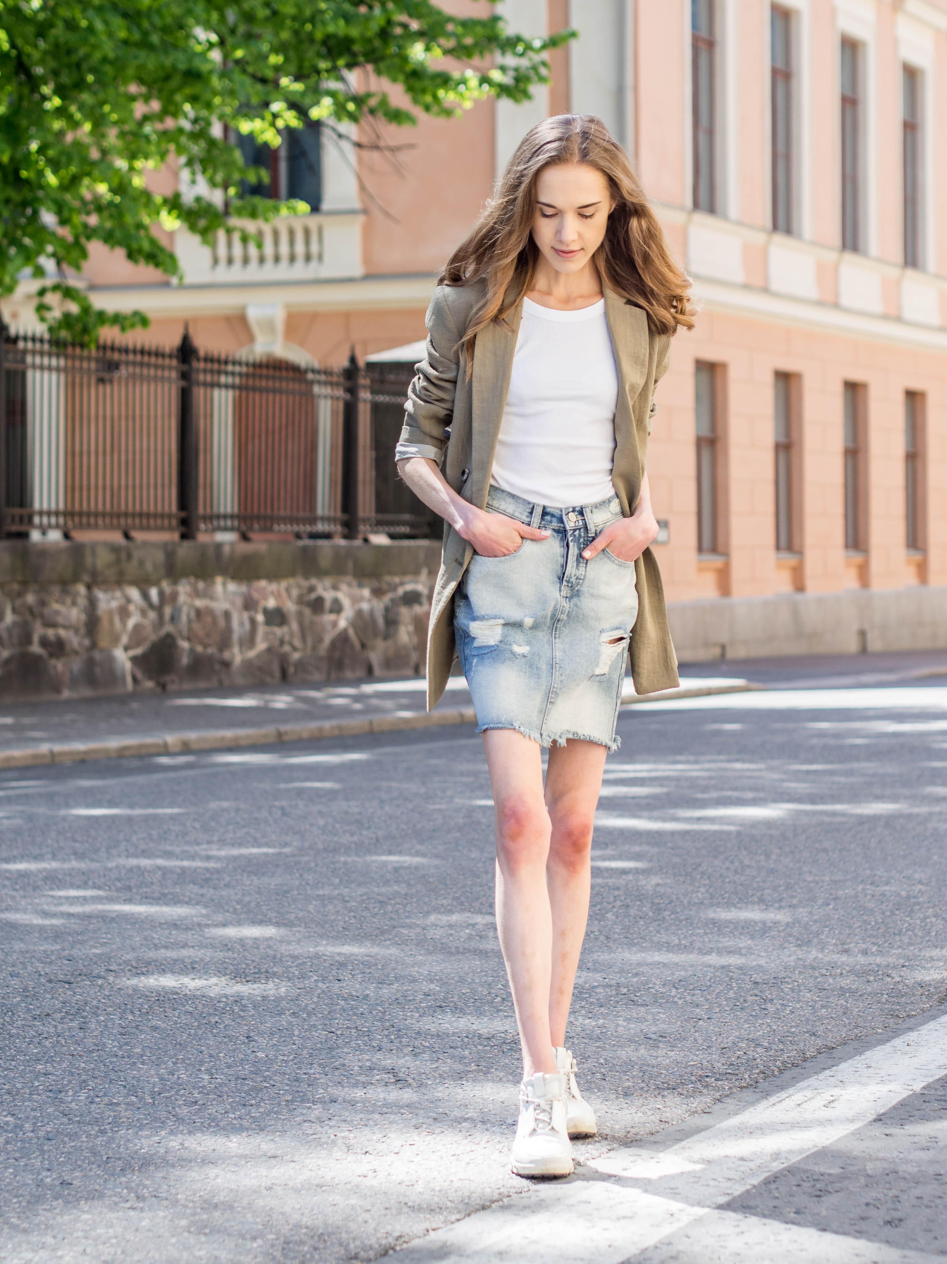 How to wear a denim skirt in summer 2020 - Kuinka pukea farkkuhame, kesämuoti 2020