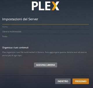 Aggiunti elementi a Plex
