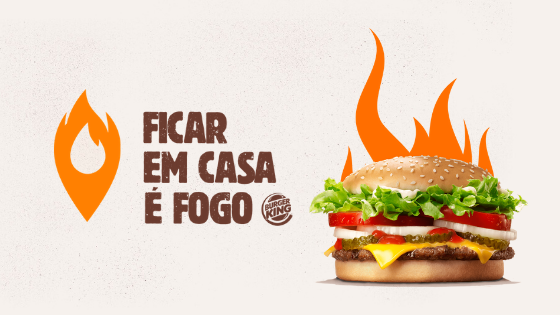 promoção burger king ficar em casa é fogo