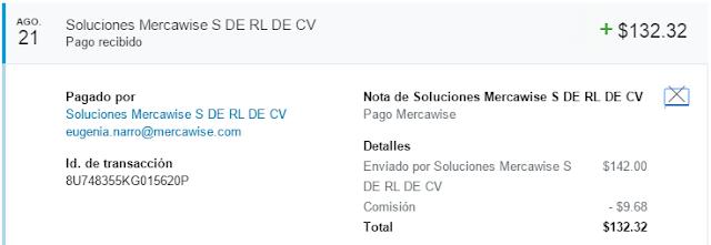 Comprobante de pago Mercawise