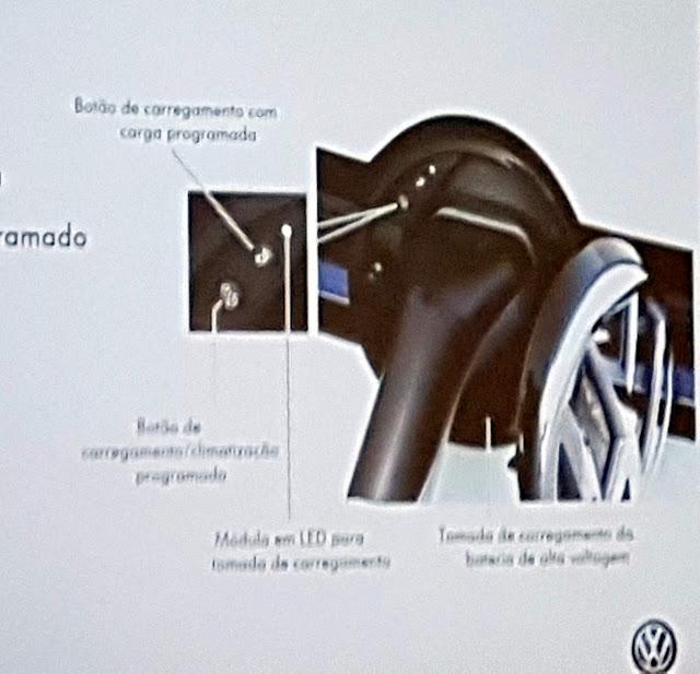 VW Golf GTE - recarregando na tomada