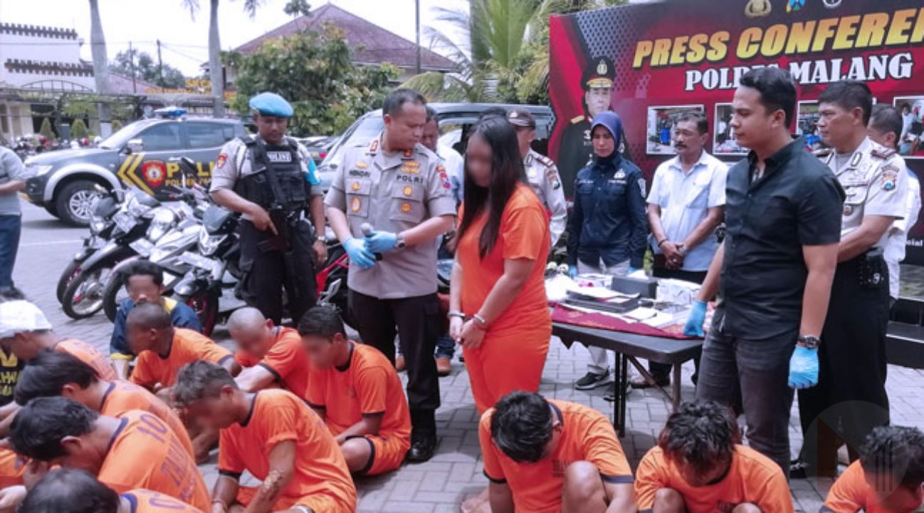 Polres Malang Sukses Ungkap 19 Kasus Kejahatan Jalanan