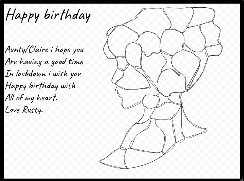 Rusty@Kaingaroa School: auntys birthday
