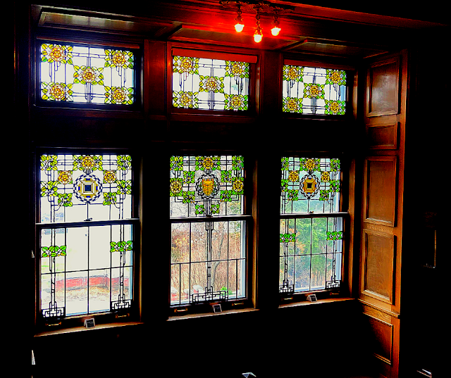 Enchanting Linden Glass Art windows throughout Glensheen
