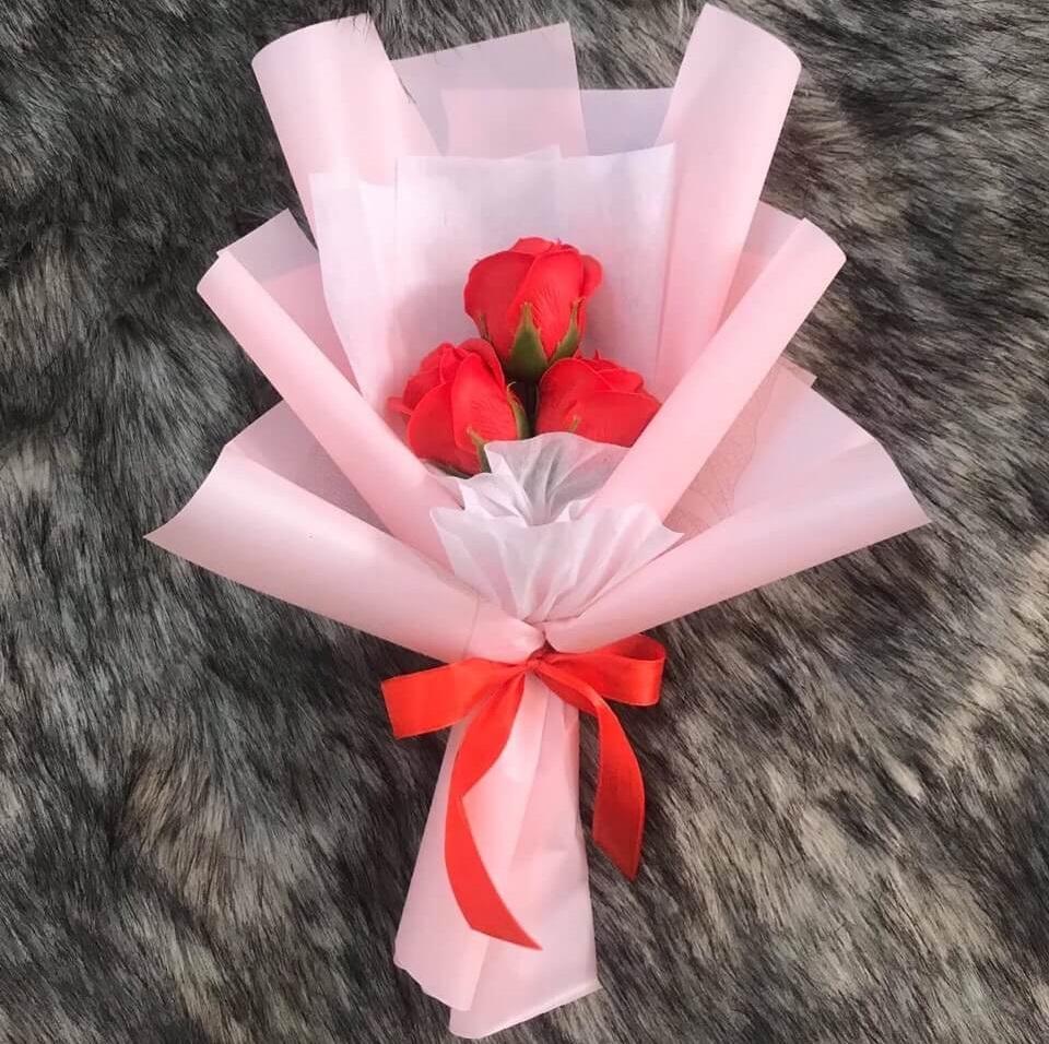 Bó hoa hồng 3 bông