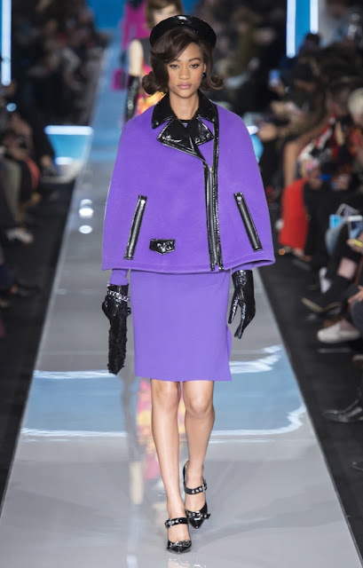 Moschino fall 2018 runway suit 1960s style