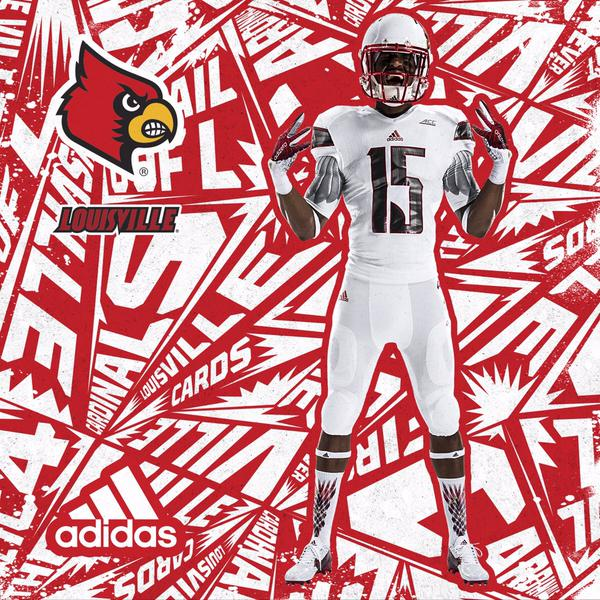 "Louisville – Adidas has produced a new ""Uncaged"" uniform for Louisville to  be worn in the Chick-fil-a Kickoff Game against Auburn in Atlanta. 766c3042d"