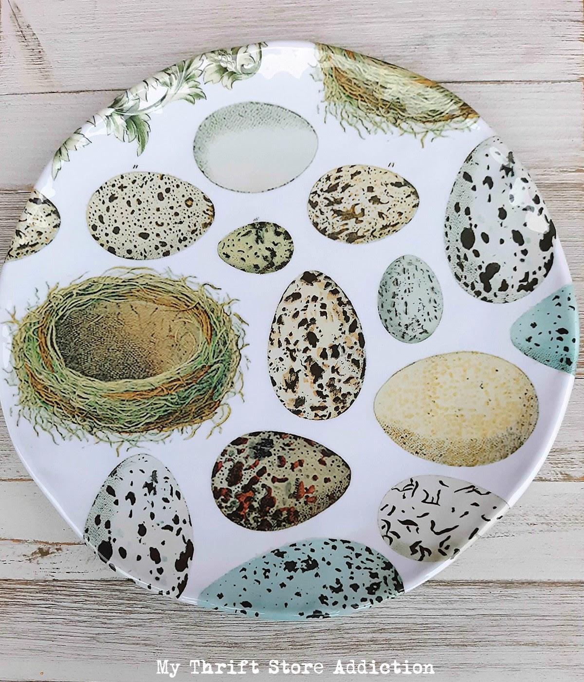 clearance bird's egg plate