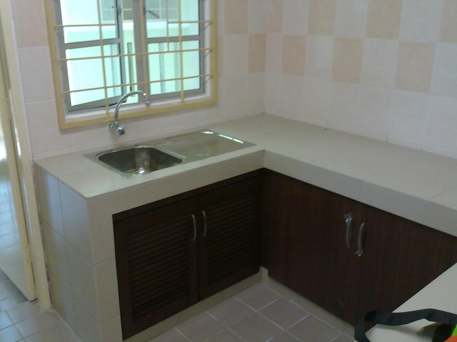 Design Kabinet Dapur Rumah Flat