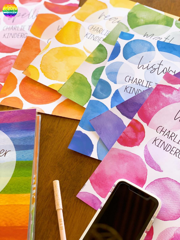 WATERCOLOR PAINT Binder + Book Cover Pack | you clever monkey