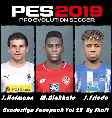 PES 2019 Bundesliga Facepack Vol 22 by Shaft