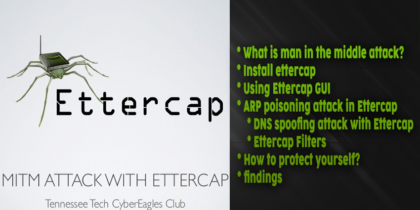 How to use Ettercap
