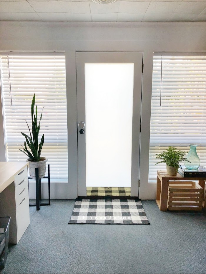 Ultra White Office Wall Makeover