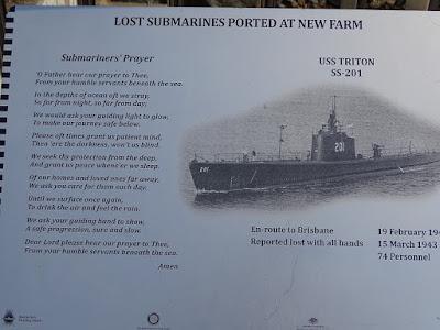 Tafel zu USS Triton und Gebet der U-Boot-Mannschaft