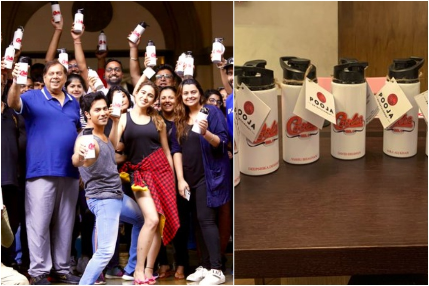 Varun Dhawan & Sara Ali starrer Coolie No 1 and crew of the film have been given plastic-free sippers