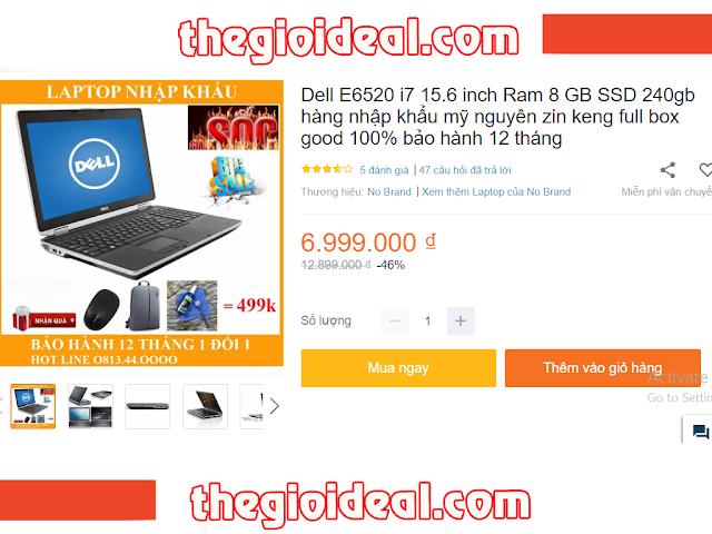 thế giới deal, laptop dell giá rẻ, deal cực sốc