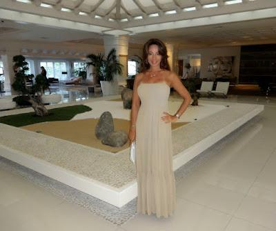 Hotel lobby  stone seat bench sandbox